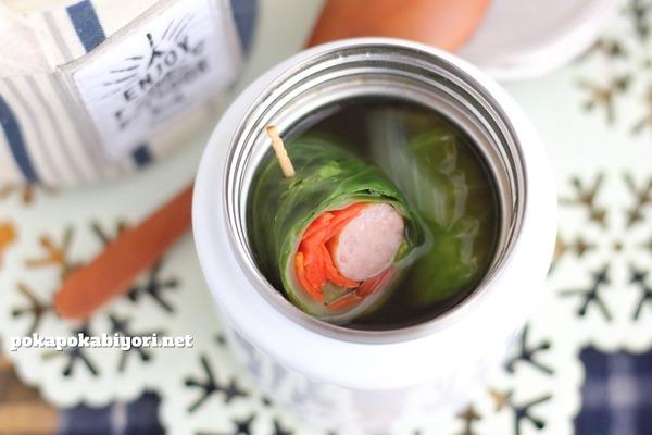 あらびきソーセージで作る簡単ロールキャベツ風スープ