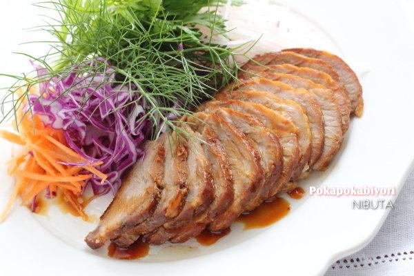下茹でなしで煮豚(肩ロース)~煮汁は炒め物やドレッシングに活用