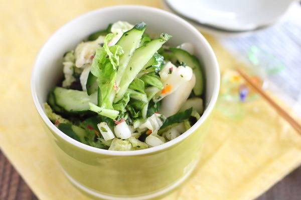 白菜ときゅうりの花むすび漬け|混ぜご飯の素を使って絶品お漬物を作ろう!