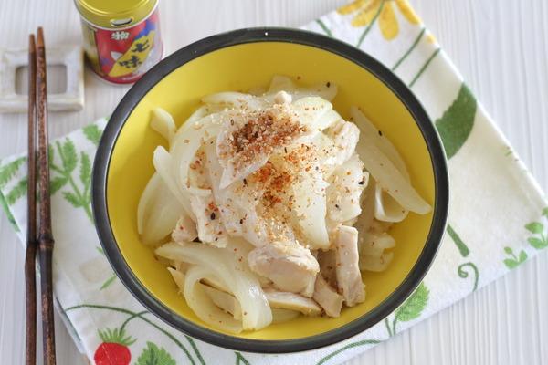 電子レンジで作るやみつき副菜【無限たまねぎ】|鶏ハム・薄味・ヘルシーに