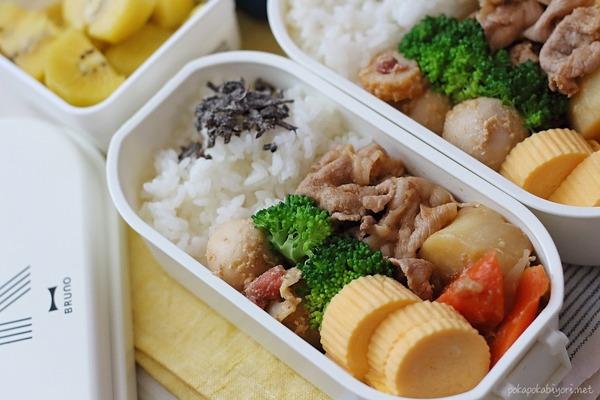 やわらか豚肉(焼肉たれマリネ)のレシピ付き【今日の弁当】