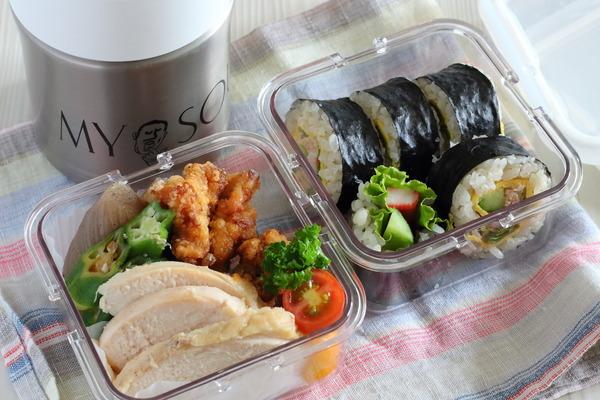 大人の簡単弁当&空スープジャーは即席味噌を持参で|高校生、猛暑の部活事情