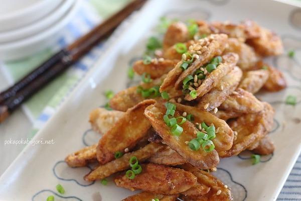 おいしすぎて箸が止まらない(笑)揚げごぼうの甘辛和えレシピ