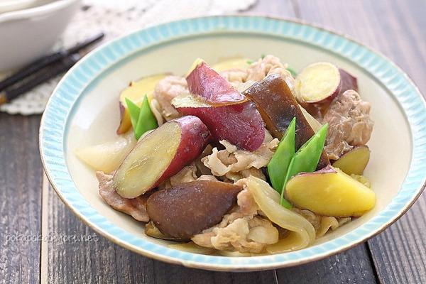 豚肉とさつまいもの煮物|濃くないのにご飯に合う!!