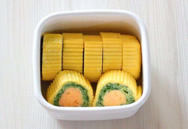 三色卵焼き 彩りUP弁当