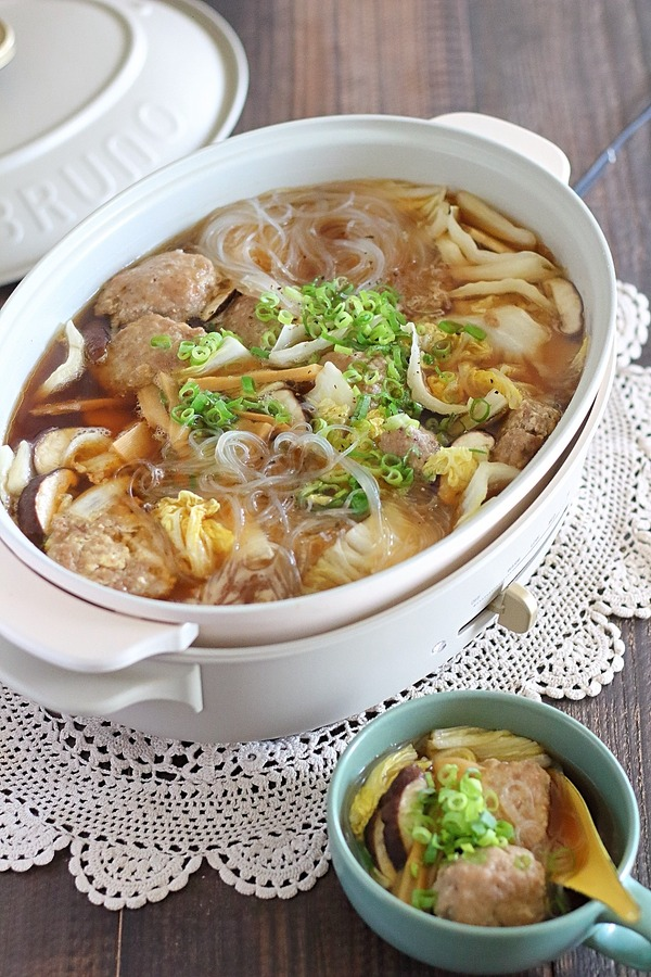 ふわふわ肉団子のスープ