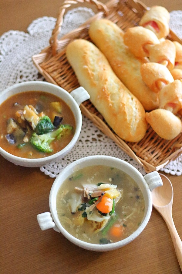バゲットチャレンジ2回目+冷凍のおいしい具だくさんスープ紹介(#PR)