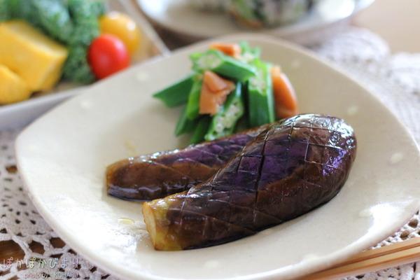 茄子のオイル蒸し(バター醤油仕上げ)