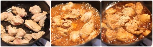 弁当おかずにぴったりな鶏肉の胡麻照り煮レシピと詳しい作り方