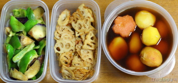 朝弁当作りが楽になる寝る前の簡単作り置き(7日分)