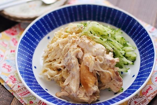 蒸し鶏と切干大根のサラダ|胃腸にも優しい。レンジで簡単。