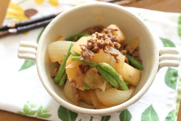 長芋の味噌そぼろ煮 ~初物と聞くと食指が動く件 w