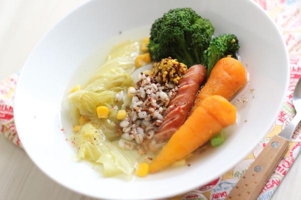 初自炊/超多忙/疲労度MAXな人におすすめ【ポトフ】 &栄養価を高める雑穀米