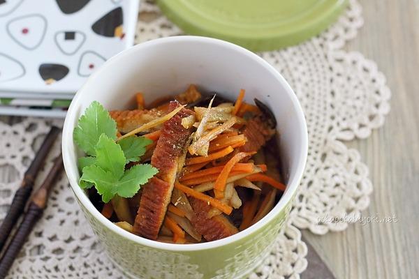 うなぎと根菜の甘辛炒め|甘い味の作りおきおかず