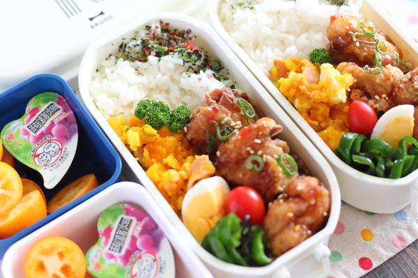 弁当記録|唐揚げの甘辛たれ・かぼちゃサラダの簡単レシピ付き