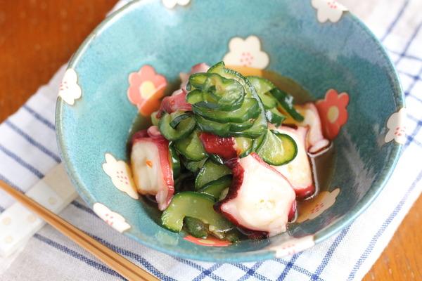 冷凍きゅうりで味がよくしみる!中華風たこ酢のレシピ|きゅうりを冷凍してみた感想
