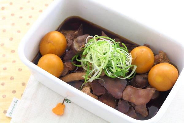 鶏もつ煮~玉ひも・砂肝・レバーの甘辛煮~