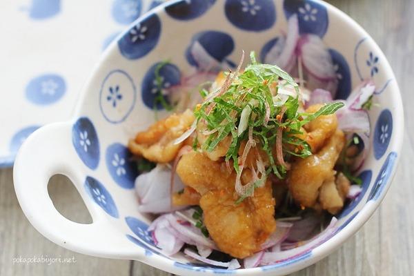 カリカリ食感がポイント!【鶏皮ポン酢】レシピ