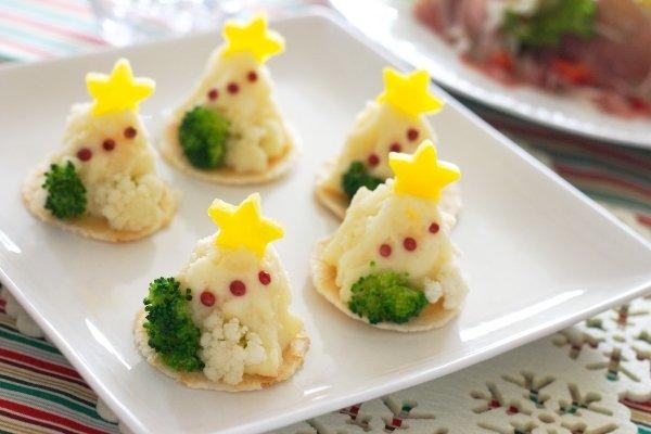 簡単なのに見た目が可愛い~クリスマスツリー風ポテトサラダ