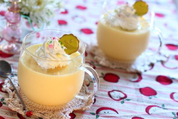 電子レンジで作る 卵・牛乳・砂糖のみの【シンプルプリン】レシピ