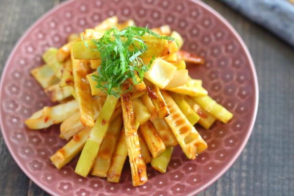 根菜類の「みそ」味のきんぴらならこの調味料が絶品!|淡竹の味噌きんぴらレシピ