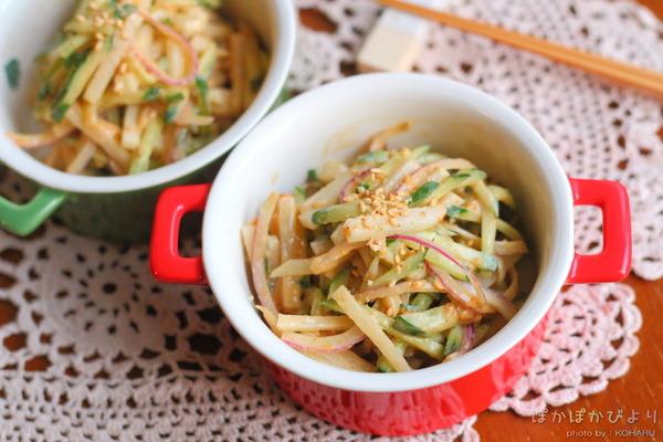 白ねりごま×焼肉のたれでコクのある副菜1品 &お節料理は野田琺瑯を鍋代わりに!