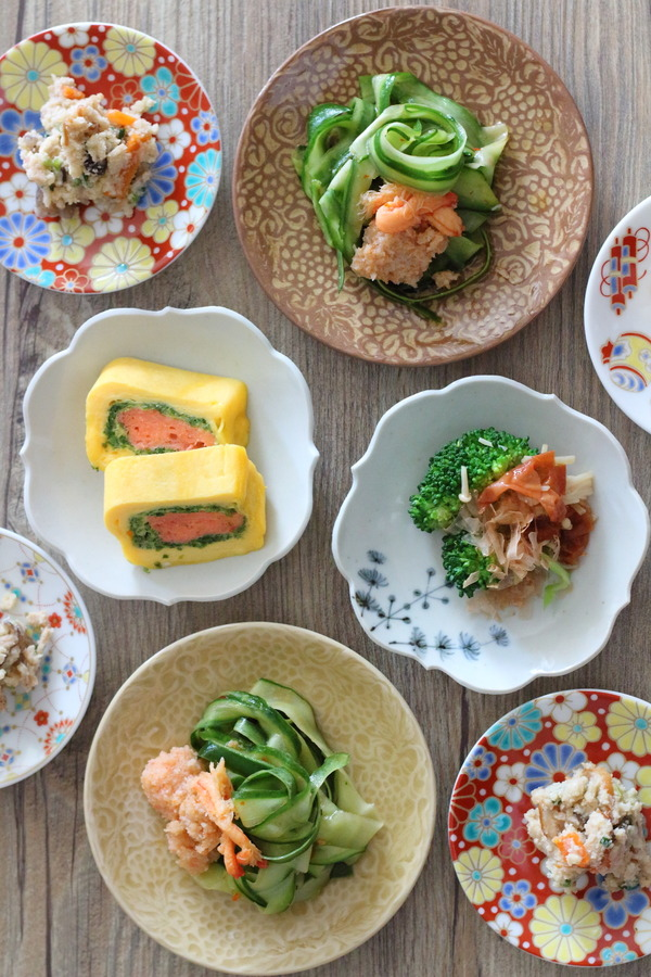 ほんまに美味な酢の物 & 関西蚤の市で買った豆皿たち