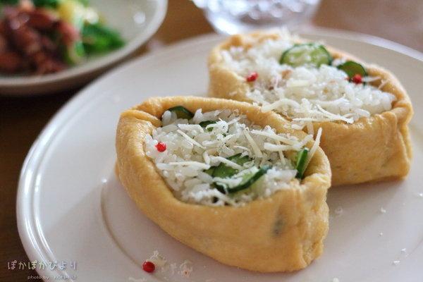 アンチョビと塩もみ胡瓜のチーズ稲荷|ひな祭りの食卓&事前準備の様子