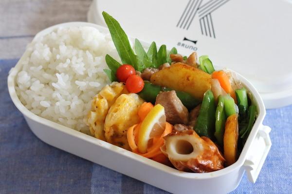 青椒肉絲(じゃがいもでカサ増し)弁当|簡単レシピ付き〜ご飯のお供は「ちょびぬか」