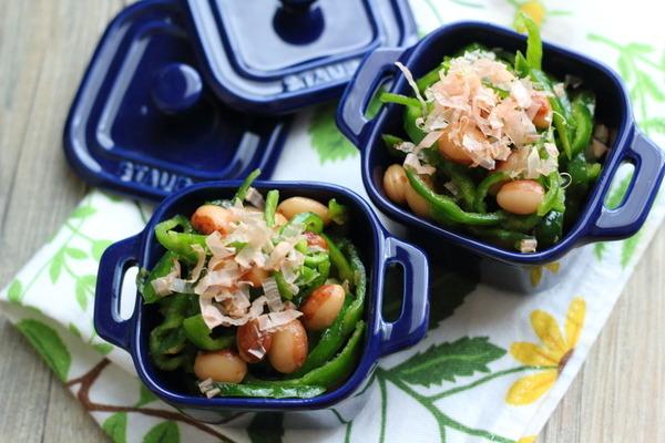 とら豆ピーマンナムル &タラゴンchanの絶品稲荷のツクレポ