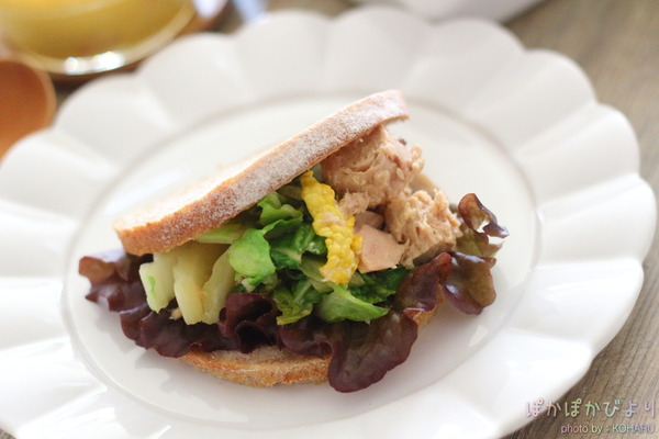 白菜のマヨポン炒めで和風サンドイッチ &えむこsanが絵日記ツクレポしてくれてました