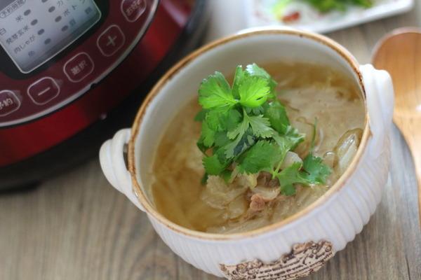 白菜たっぷりの中華風スープを5分で &最近食べたスープたち