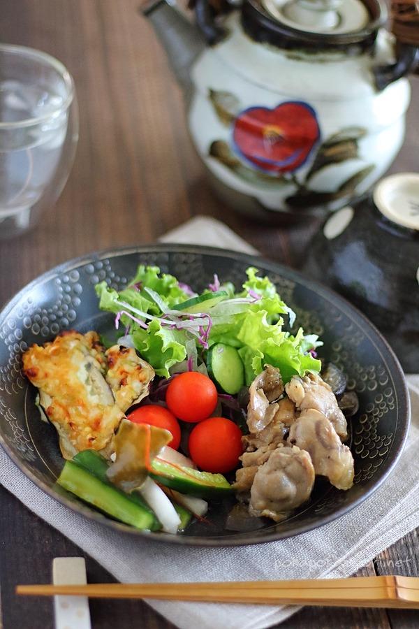 サラダの変色しない作り置きで【ワンプレートランチ】←今日のお昼ご飯