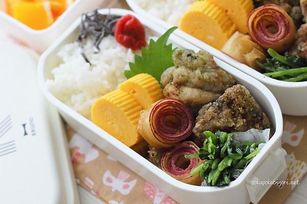 【クルクル大学芋】レシピと今日の唐揚げ弁当