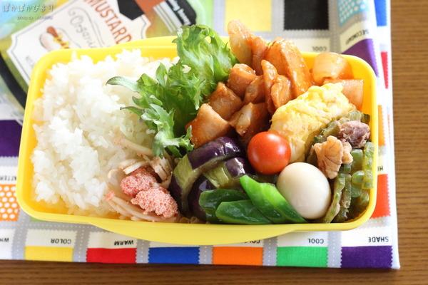 豚肉甘酢炒め弁当(夜の下準備と朝の作業)/緑色のおかずについて:8mansa__nへ