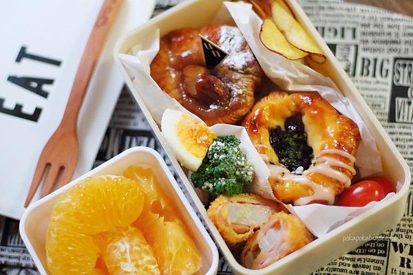 パン弁当記録|レンコンベーコン巻きフライ・ゆでたまごブロッコリーのサラダetc簡単レシピ付き