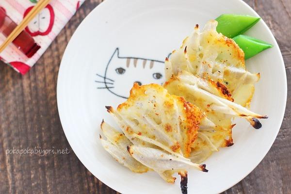 かわいすぎる猫のお皿で【ごぼうのマヨチーズ焼き】レシピ