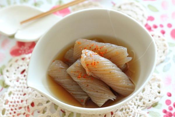 【電子レンジ調理】ねじりこんにゃくのピリ辛煮
