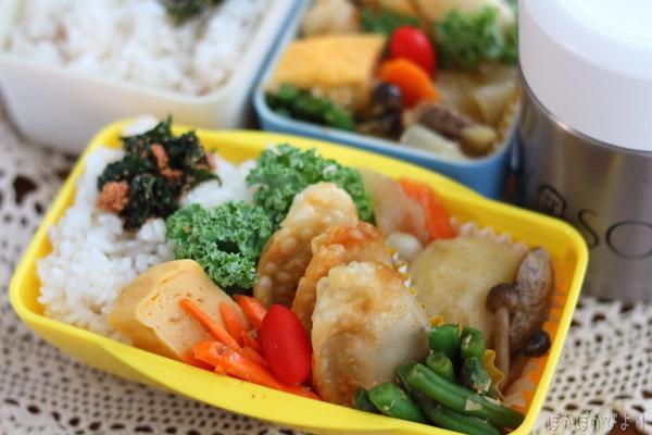 揚げ餃子の弁当/前日の作り置きの写真付き