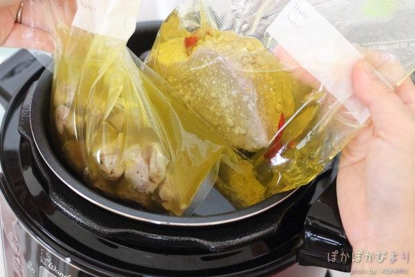 【レシピ】自家製ツナと砂肝コンフィを同時調理|電気圧力鍋のスロークッカー、炊飯器でも作れるよ