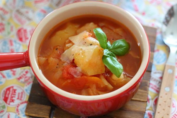 調味料2つで【野菜がとろけるトマトスープ】 &ポテトサラダの彩りUPのコツ