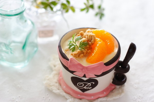 缶詰フルーツで作る簡単パルフェ & 何かと使えるクランブル のレシピ
