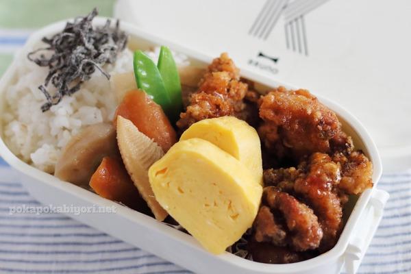 手抜きに見えない手抜き弁当BEST3|唐揚げ・豚丼・お好み焼き風乗っけ弁