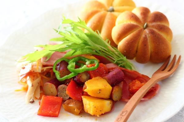 根菜のスパイス香るモロッコ風炒め