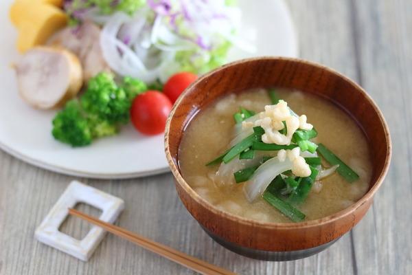 一番好きな味噌汁の具(ニラ・天かす・たまねぎ)|手作りみそのその後