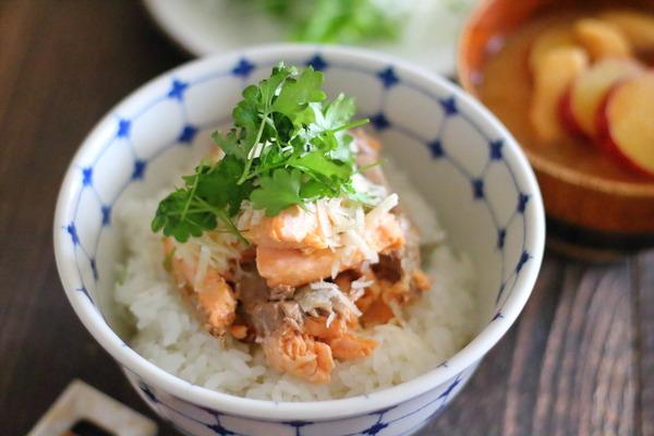 鮭パルミジャーノ丼|鮭フレークでごちそうどんぶりに!