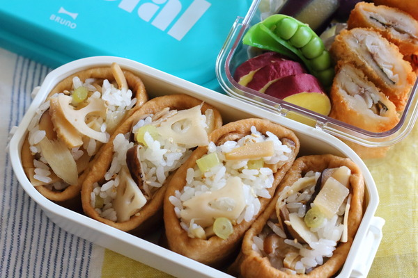 いなり寿司のお弁当&前日の準備の様子|去年の5月の弁当2日分