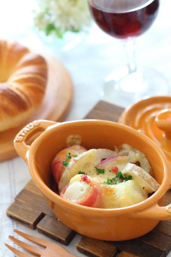 ワインに合う野菜の1品~根菜のココットチーズ焼き