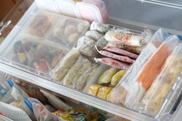 冷凍OKな弁当おかず&冷凍庫の弁当おかずコーナー(スライドの部分)