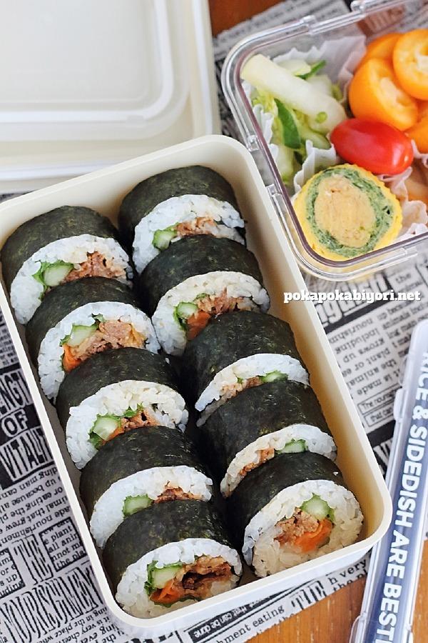 巻き寿司の弁当